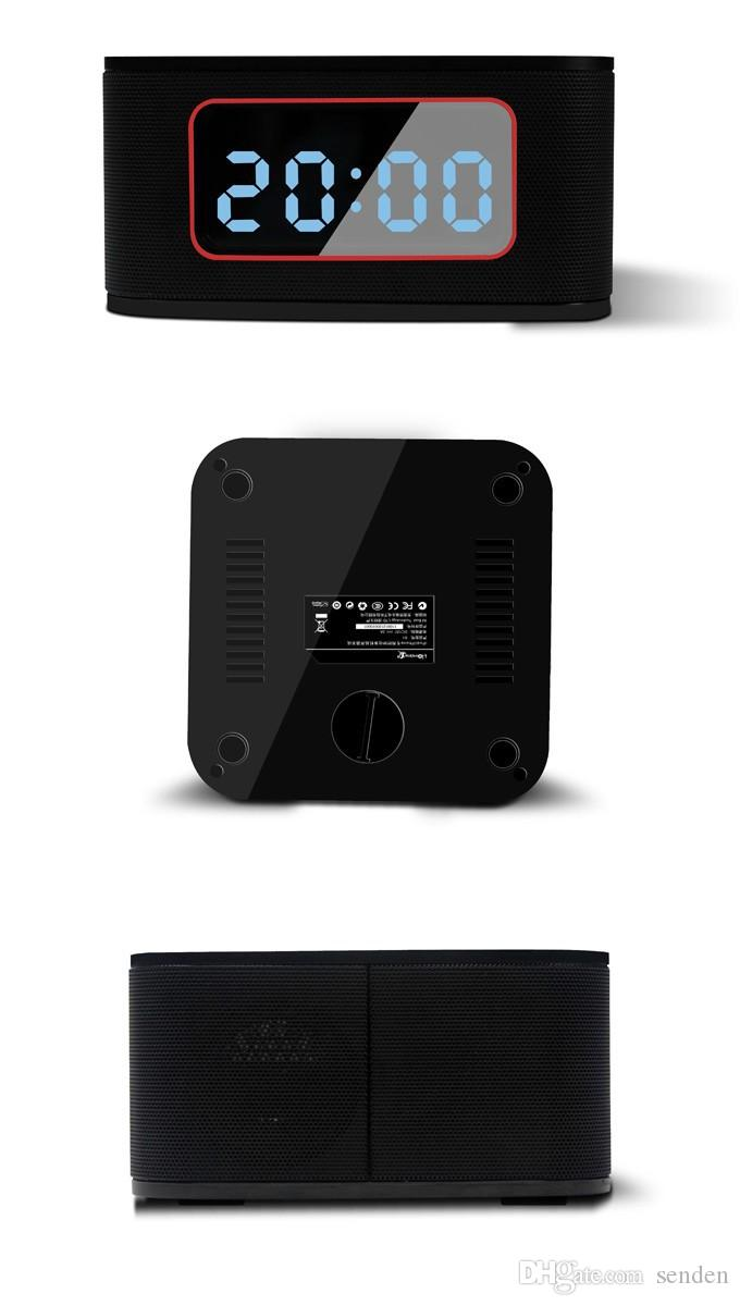 S1 Pro dock Alarm Clock Radio Wireless Speaker system Multifunction bluetooth subwoofer speaker dock charging station FM/Aux-in for iPhone