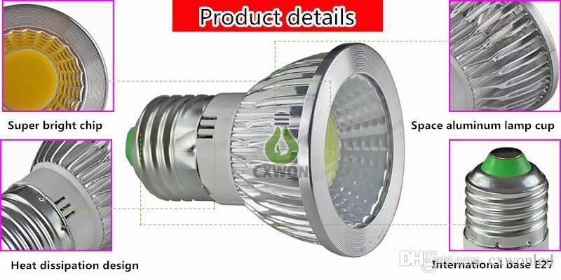 عكس الضوء GU10 MR16 E27 GU5.3 قطعة خبز أدى ضوء لمبة 5W بقيادة لمبات سبوت أسفل الأضواء مصباح AC85-265V 12V