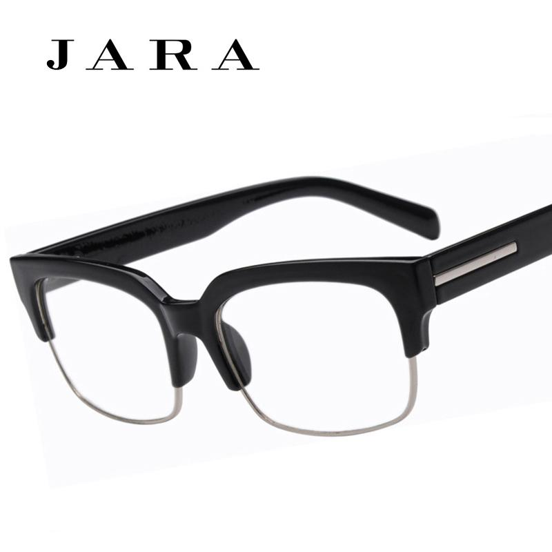 2018 wholesale jara wide leg half frame eye glasses for menwomen same paragraph retro brand eyeglasses oculos de grau from gocan 2701 dhgatecom - Wide Frame Glasses