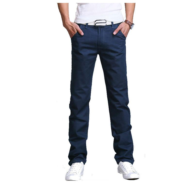 6798f5d5787 2019 Wholesale 2016 Summer Autumn New Men Business Casual Slim Pants Solid  Trousers Fashion Mens Straight Cargo Pants Men S Clothing Size 28 40 From  Mujing