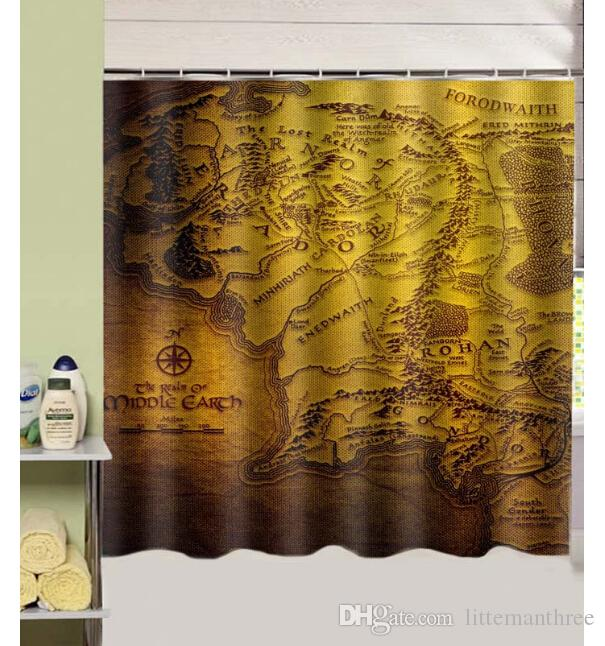 2018 The Lord Of The Rings Design Shower Curtain Size 180 X 180 Cm ...