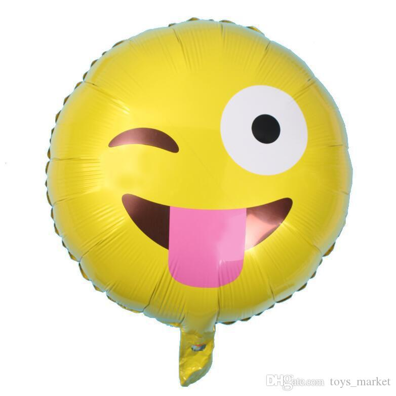 4 Design Emoji Balloons New 18inch Aluminum Film Balloon Smile Face Balloons for Birthday Party Cartoon Emoji Halloween Balloons