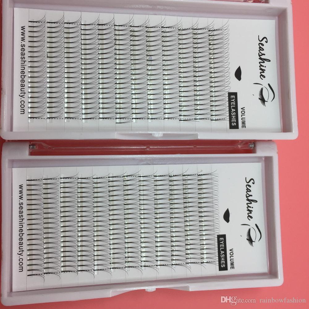 3D False Eyelashes 8-15mm Individual Lashes Feather Plastic Cotton Stalk Single Cluster Planting Russian Premade Volum Eyelashes Extensions