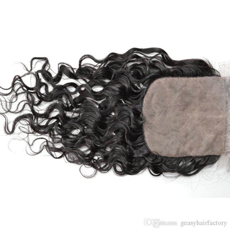 Three Part Silk Top Closure 100% Human Hair Mongolian Virgin Hair closure No Shedding LaurieJ Hair