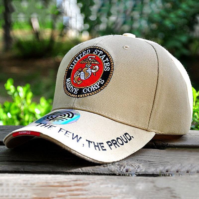 0e9ba5679bd US Marines Caps Mens Golf Cap Closed Snapback Tactical Baseball Caps ...