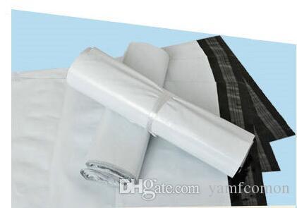 wholesale 20cm x 32cm Eilpostversandbeutel der Fördermaschine 20 * 32CM Plastik Freies DHL-Weiß