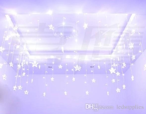 4M Ice led string light New year indoor lighting garland star modeling led luminarias christmas decoration 100SMD 18 Stars