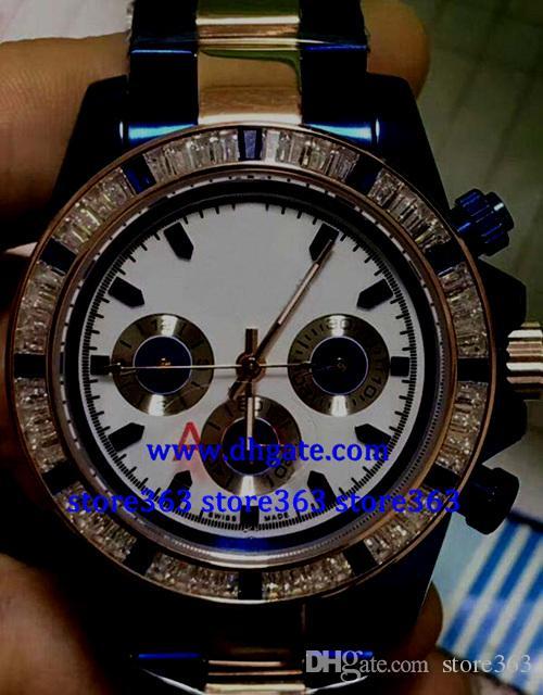 Christmas gift MENS SWISS WATCH 116520 blue DIAL black STAINLESS STEEL 40MM Diamond bezel Automatic Watch