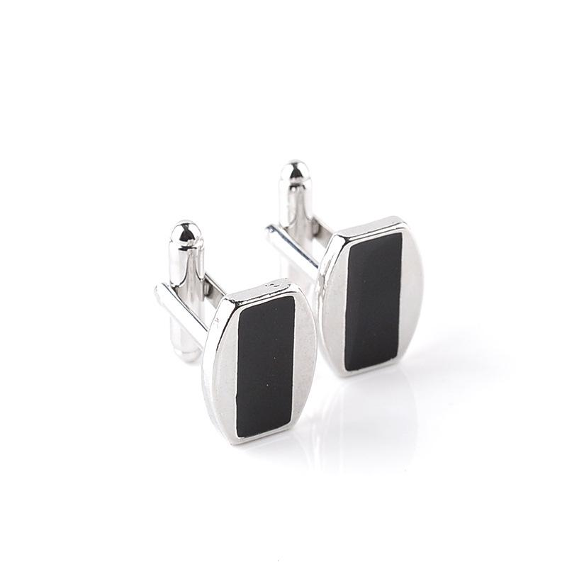 2016 simple Black square Cufflink Cuff Links sleeve button for women men shirts dress suits alloy Cufflinks XMAS Christmas gift 170622