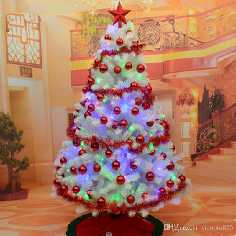 Albero Di Natale Bianco.Crittografia Pacchetto Albero Di Natale Bianco 1 8 M 180 Cm Albero Di Natale Decorato In Bianco Con Decorazioni Festive