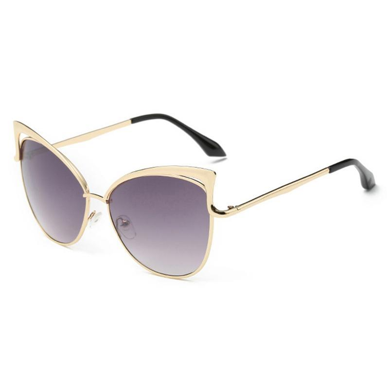 2acd46fa10cb9 Fashion Women Cat Eye Sunglasses Retro Luxury Sun Glasses With Alloy ...