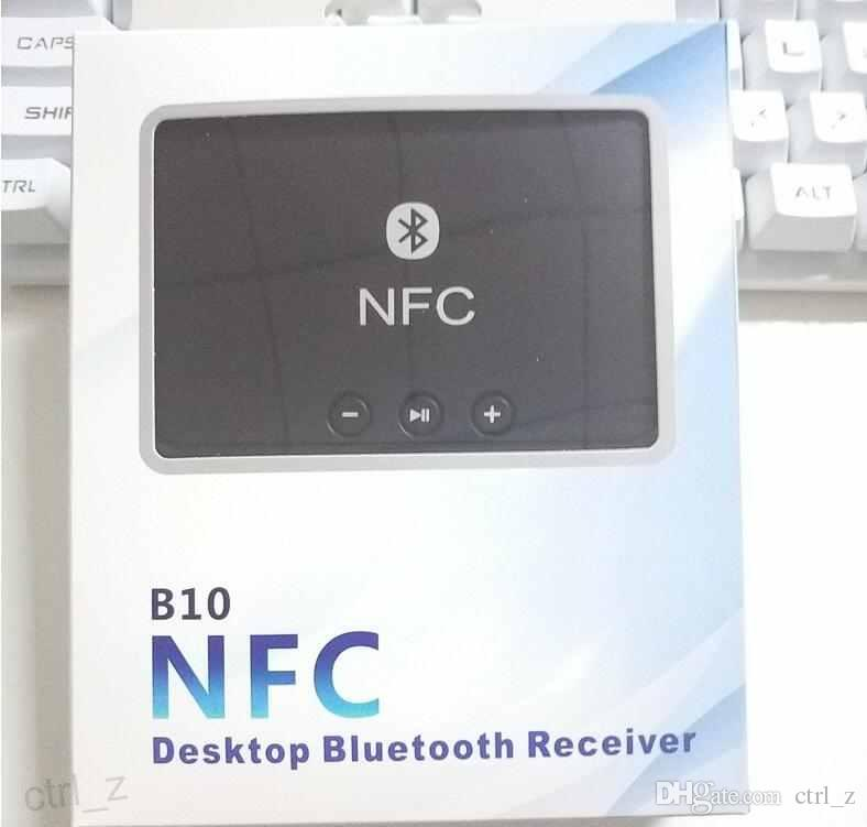 Car Desktop DVD Player NFC AUX USB Bluetooth Wireless Stereo Audio Music Speaker Receiver Adapter for Computer mobile