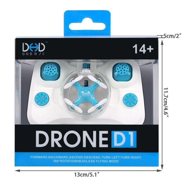 D1 Drone Küçük RC Quadcopter Başsız Modu 6-axis Gyro RC Quadcopter Modu 2.4G 4CH 6-Axis RTF Mavi Renk Mini Cep Drone