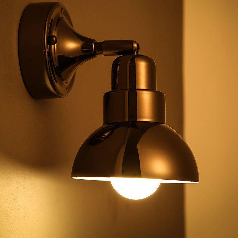2018 Loft Metal Glass Horn Corridor Wall Lights Bedroom Bedsides ...