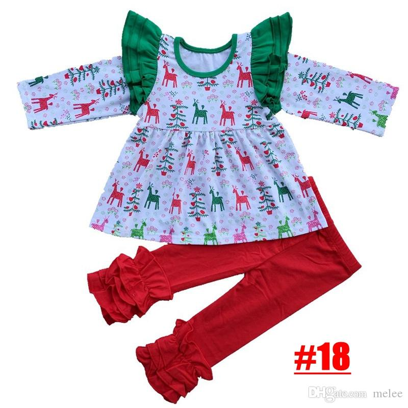 2017 Kids Christmas Boutique Outfits High Quality Baby Girl ...