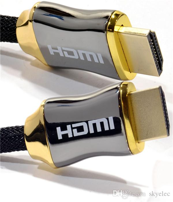 hdmi الكابلات مضفر الترا hdmi كابل v2 عالية السرعة إيثرنت hdtv 2160 وعاء 4 كيلو 3d الذهب نوعية جيدة جدا النحاس النقي المواد الغبار حماية