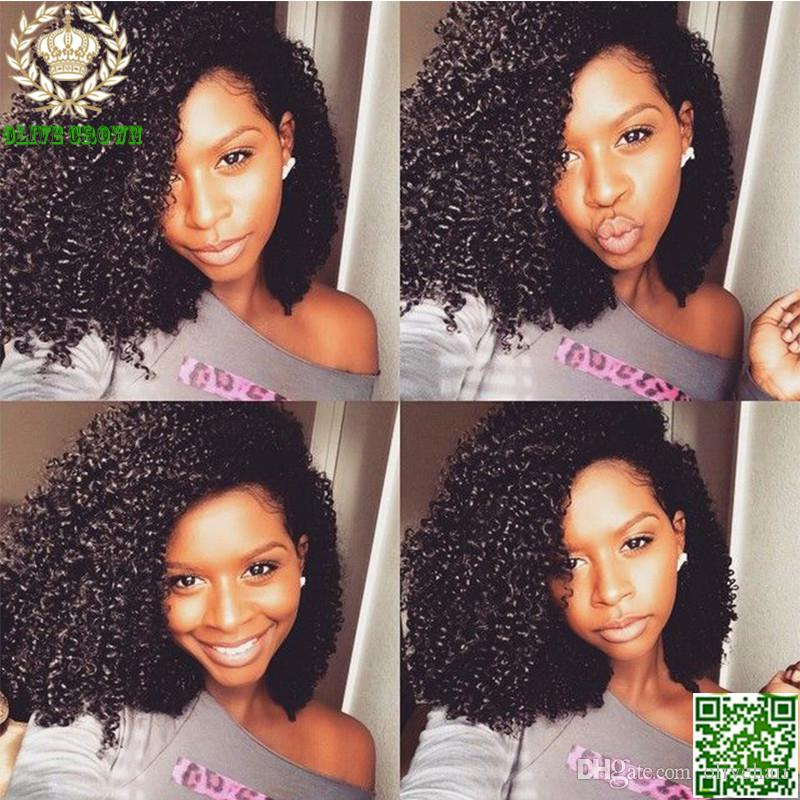 Brazilian Human Hair Lace Front Wig Afro Kinky Curly Full Lace Human Hair Wigs Unprocessed Hair Kinky Curl Wig