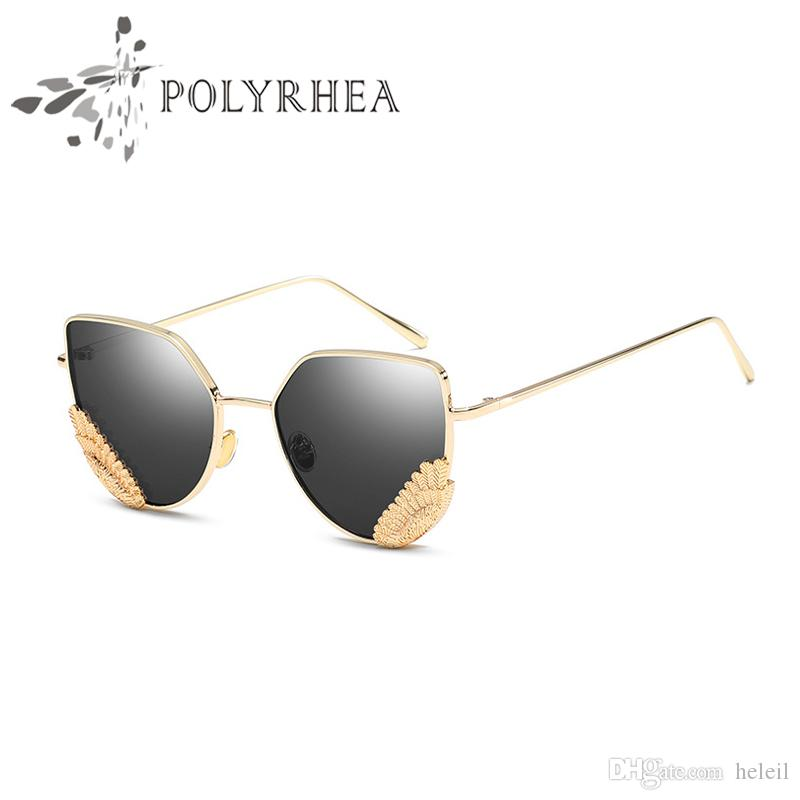 feaba2029ab New Women Brand Designer Sunglasses Cat Eye Wing Women Vintage ...