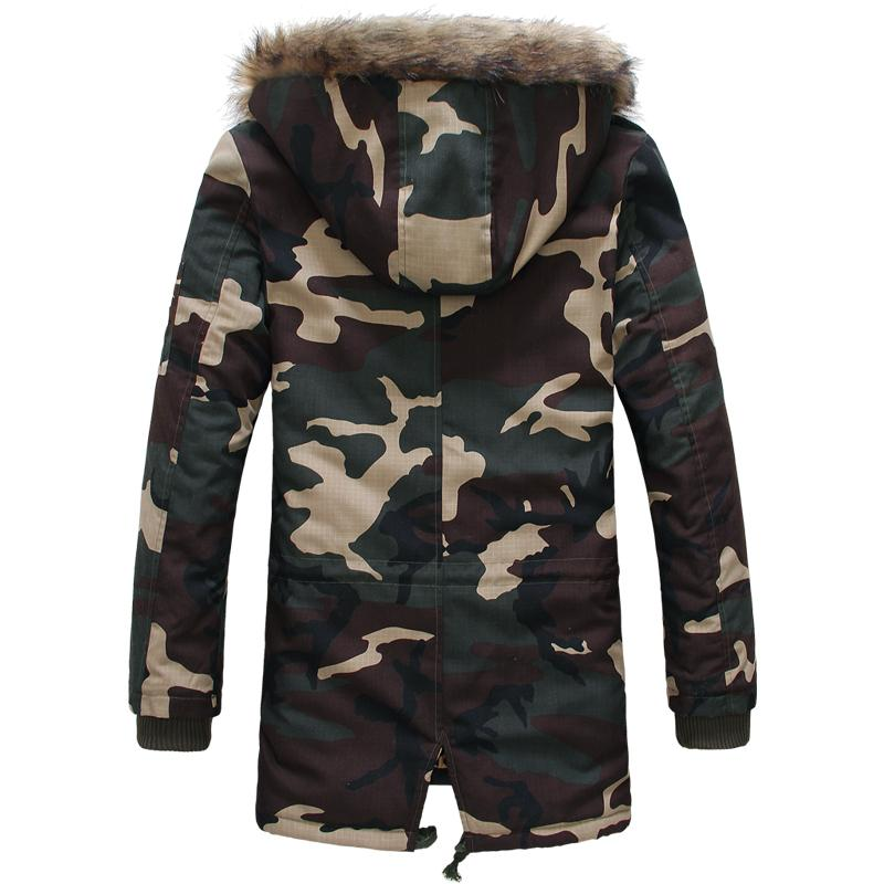 2018 Leopard Camouflage Down Jackets 2016 Military Parka Fashion ...