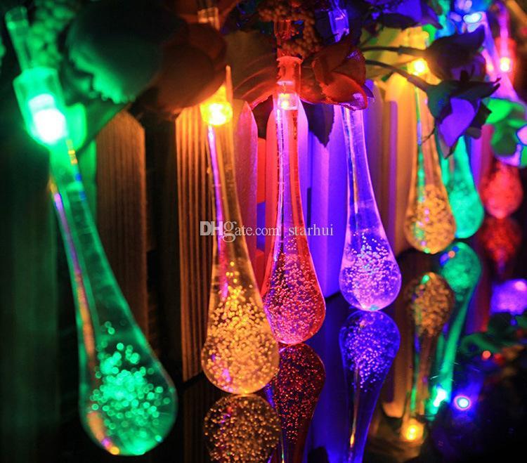 الصمام قطرة الماء بالطاقة الشمسية ضوء هالوين زينة عيد الميلاد 30 أضواء الرئيسية في الهواء الطلق حديقة الباحة حزب عطلة اللوازم WX9-36