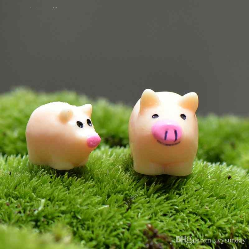 2020 Cartoon Pig Mother And Son Small Desktop Assembled