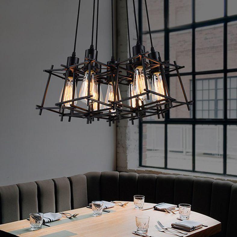 Acquista Lampade A Sospensione Moderne American Industrial Retro