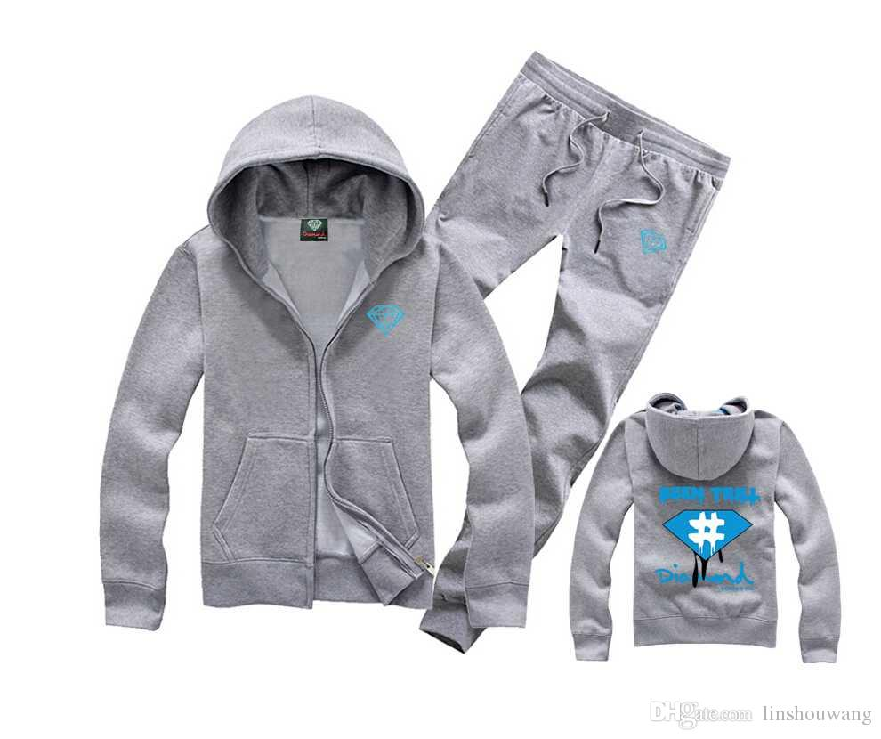 mode imprimé diamant offre co hommes Fleece Hoodies Sweatshirt skate marque hip hop en vrac grand code imprimé