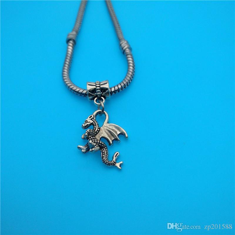 Tibétain Argent Mixte Animal Dragon Ours Chat Charmes Pendentifs Fabrication de Bijoux Bracelet Collier Mode Populaire Résultats de Bijoux Accessoires