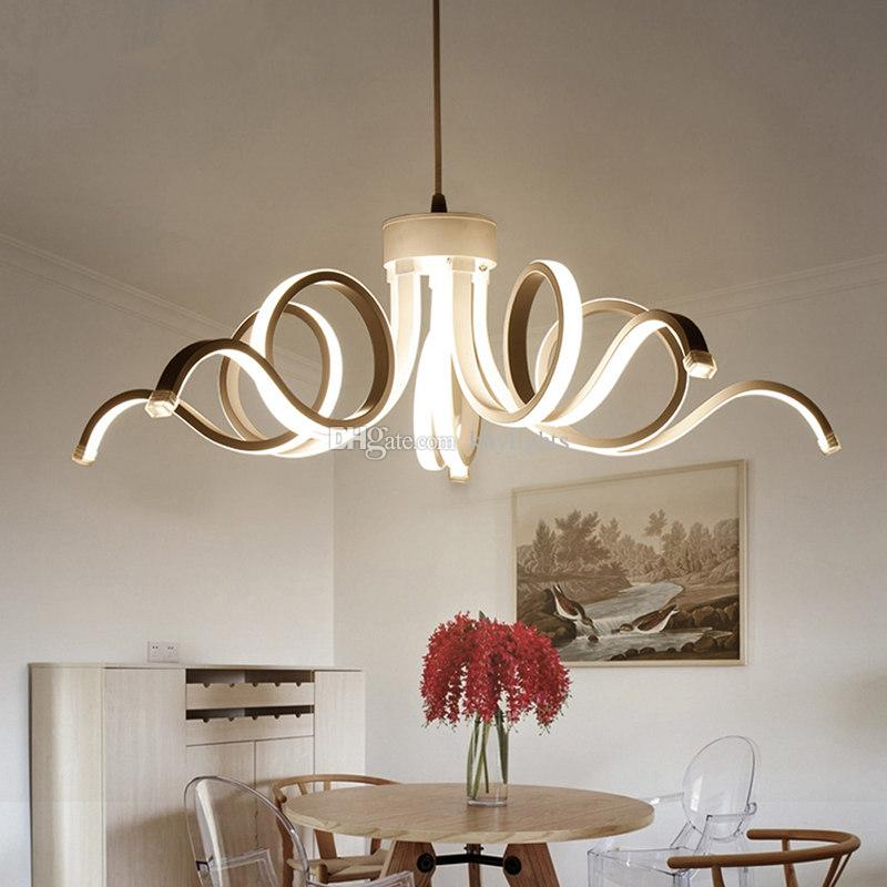 2017 New Design Modern Ceiling Lights For Living Room Dining Room D65CM  Acrylic Aluminum Body LED Chandelier Ceiling Lamp Fixtures Modern Pendant  Lights ...