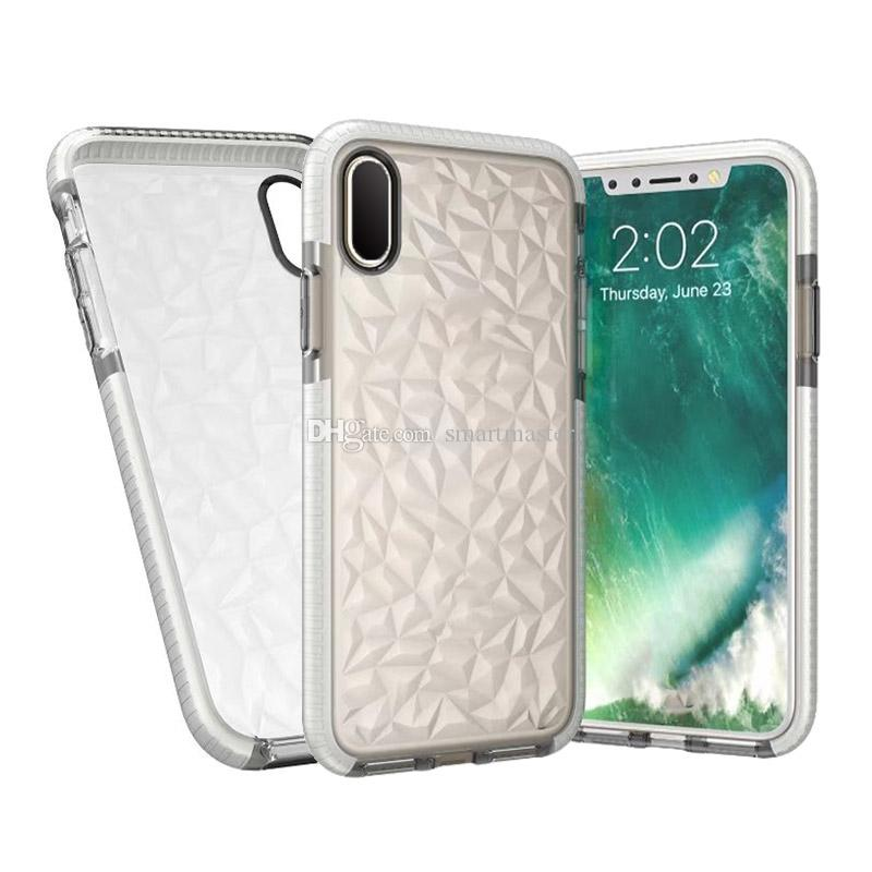Nouveau TPU Transparent Cellphone Cases Silicone Pour iPhone X 8 8P Anti Shock Proof Case Cover avec sacs OPP