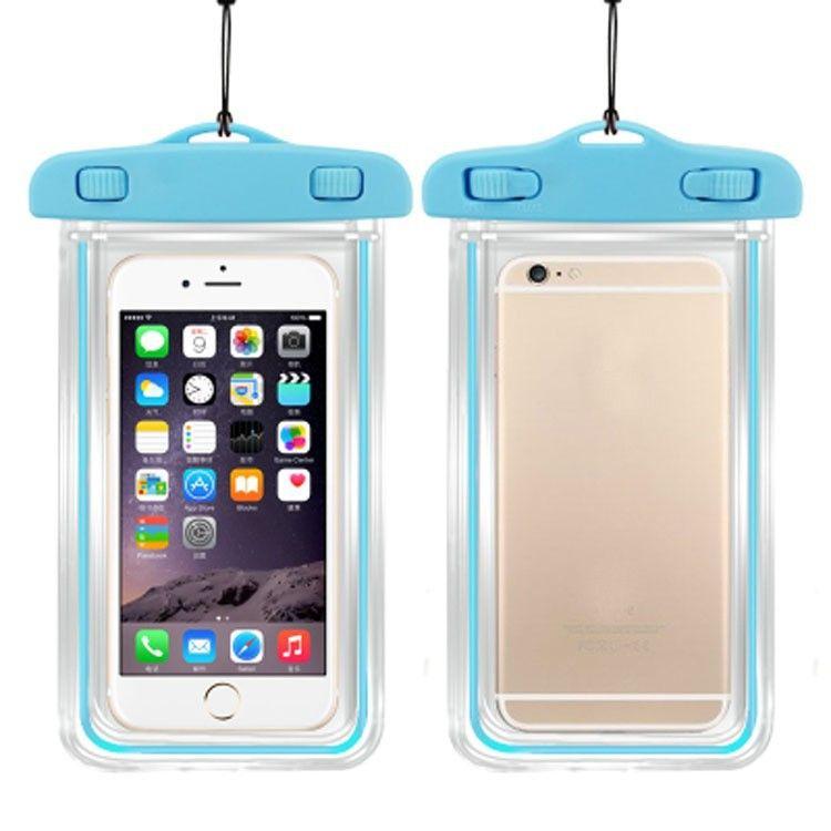 DHL geben Sie den Siegelfluoreszenz leuchtenden transparenten wasserdichten Beutel-Kasten für Handy frei Unterwasserbeutel für Handy