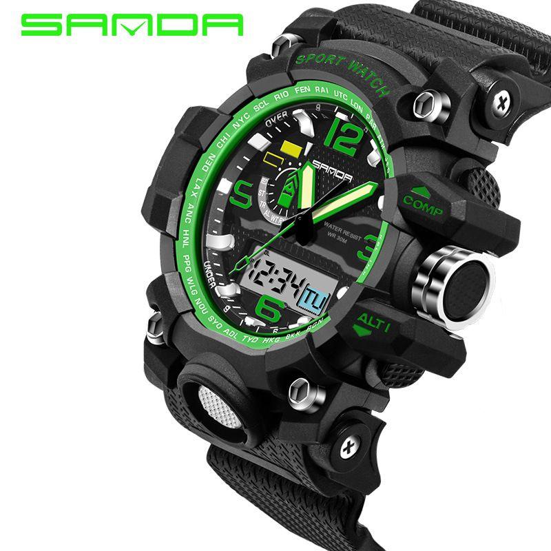 Compre Relojes Para Hombre 2018 SANDA Reloj De Moda Para Hombres Estilo G  Relojes Deportivos A Prueba De Agua Relojes Deportivos De Lujo Digitales ... 94396f32cf8d