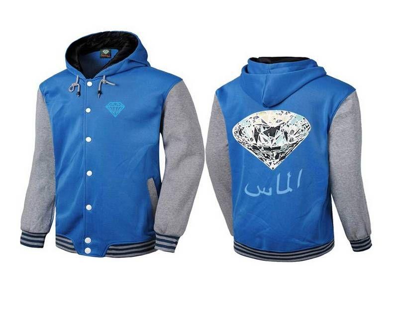 S-5XL New Diamond Supply Street wear Hip Hop Rock Hoodie Mens Pullovers Cheap Crewn ecks Sweatshirts