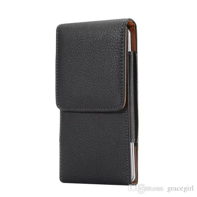 Universal Clip belt Litchi Leather Pouch Sleeve Case Hip Holster Hasp For iPhone 8 I8 7 6 6S Plus 5S Galaxy S8 S6 S7 Edge S5 Note5 Cover