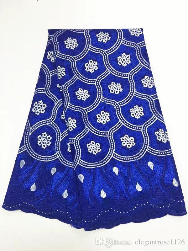 ig African Swiss Voile Lace High Quality Eyelet Cotton Swiss Lace Material Latest African Swiss Lace Fabric With Stones GYCL050
