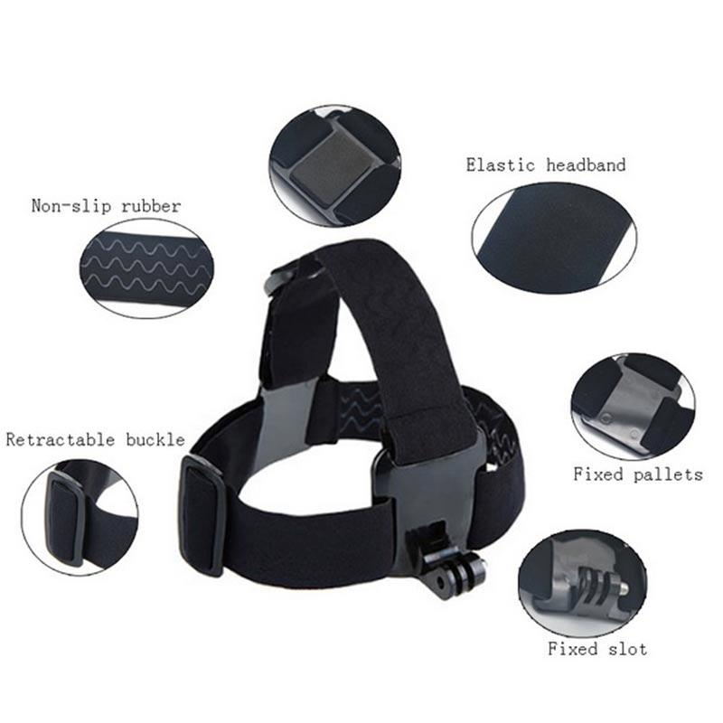 For Action camera Accessories Head Strap Chest Harness Mount For SJ4000 xiaomi yi 4K SJCAM EKEN H9/H9R