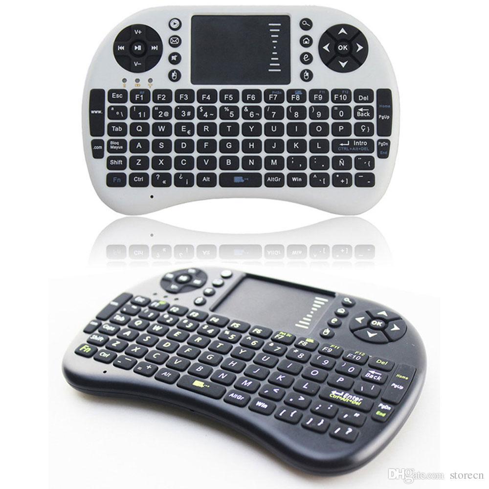 i8 + mini claviers rétroéclairés sans fil souris multi-touch pad pour MXQ Pro T8 S905 S812 Smart Box Android