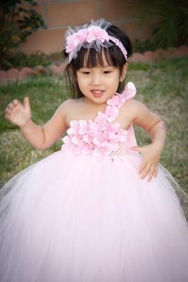 Vestidos de niña de las flores para la dama de honor menor princesa Niños desfile fiesta de baile vestido de cumpleaños de la boda Vestidos de la muchacha del desfile de la bola para las muchachas