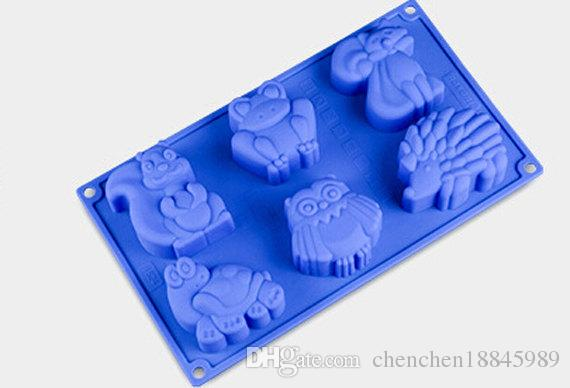 Kangaroo turtle frog Cake pan Mold Flexible Silicone Soap Mold For Handmade  Soap Candle Candy bakeware baking moulds kitchen tools ice molds