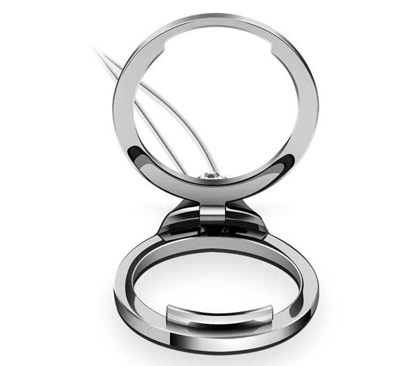 Creative Universal Support de support de bague de serrage de luxe avec lanière Finger Diamond Support de lanière de sangle d'anneau pour iPhone 7 Galaxy S8 Plus