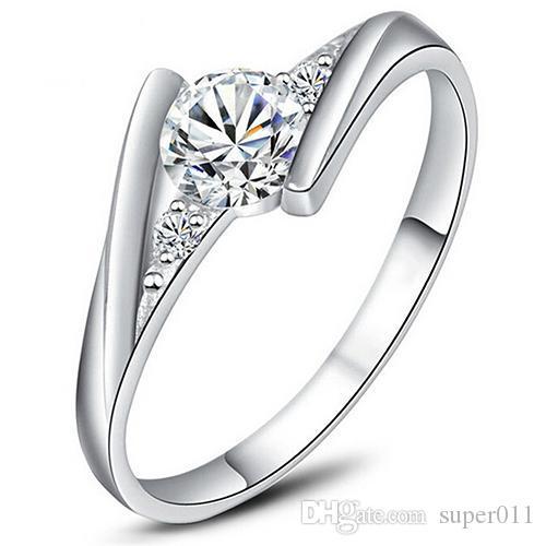 Cross X Shape Design 18 L plaqué or CZ Zircon Cubique Bague Taille 6 7 8 9 anneaux