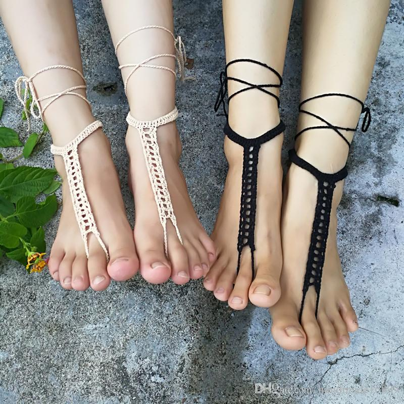 725ae1f5d74f98 OR Crochet Barefoot Sandals