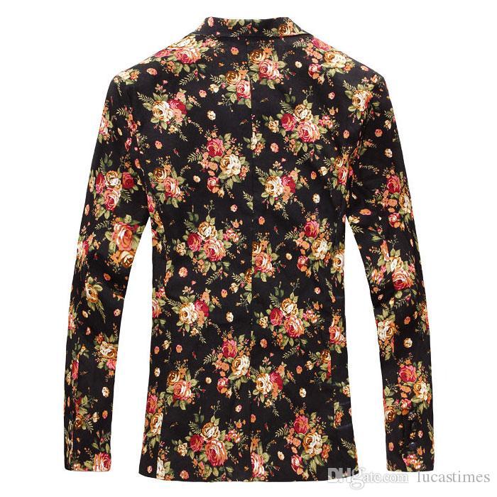 Новый Slim Fit Casual Куртка Хлопок Мужчины Blazer Куртка Одно кнопка Серый Мужской Костюм Куртка 2016 Осень Лоскутное Пальто Мужской Люкс