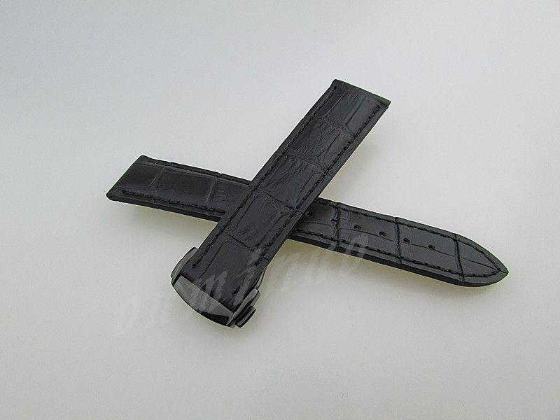 20mm veya 22mm Yeni Yüksek kaliteli Gerçek Deri saat bantları kayış Siyah Kahverengi ile Siyah toka İçin Omega İzle