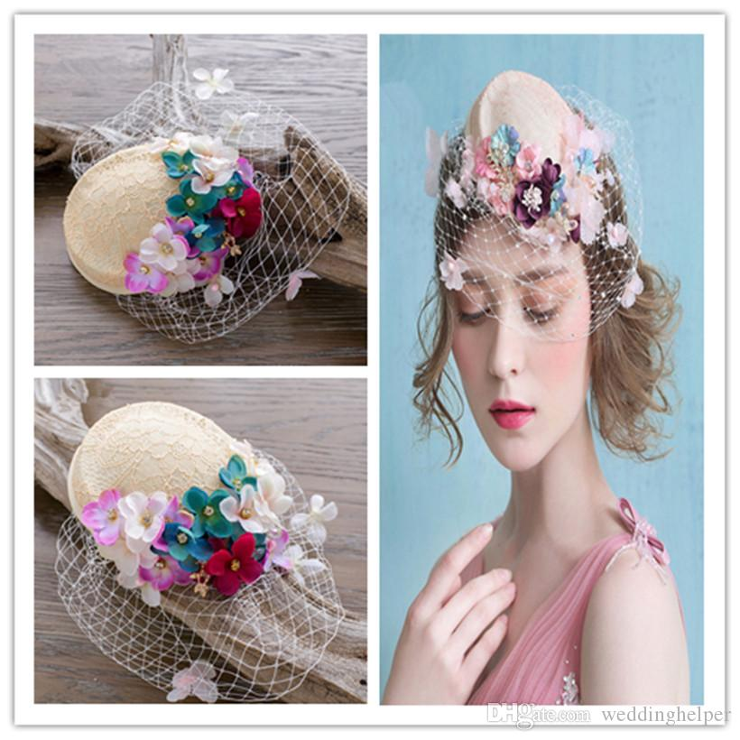 Vintage Women Teardrop Hat Pillbox Formal Hair Fascinator Church ...