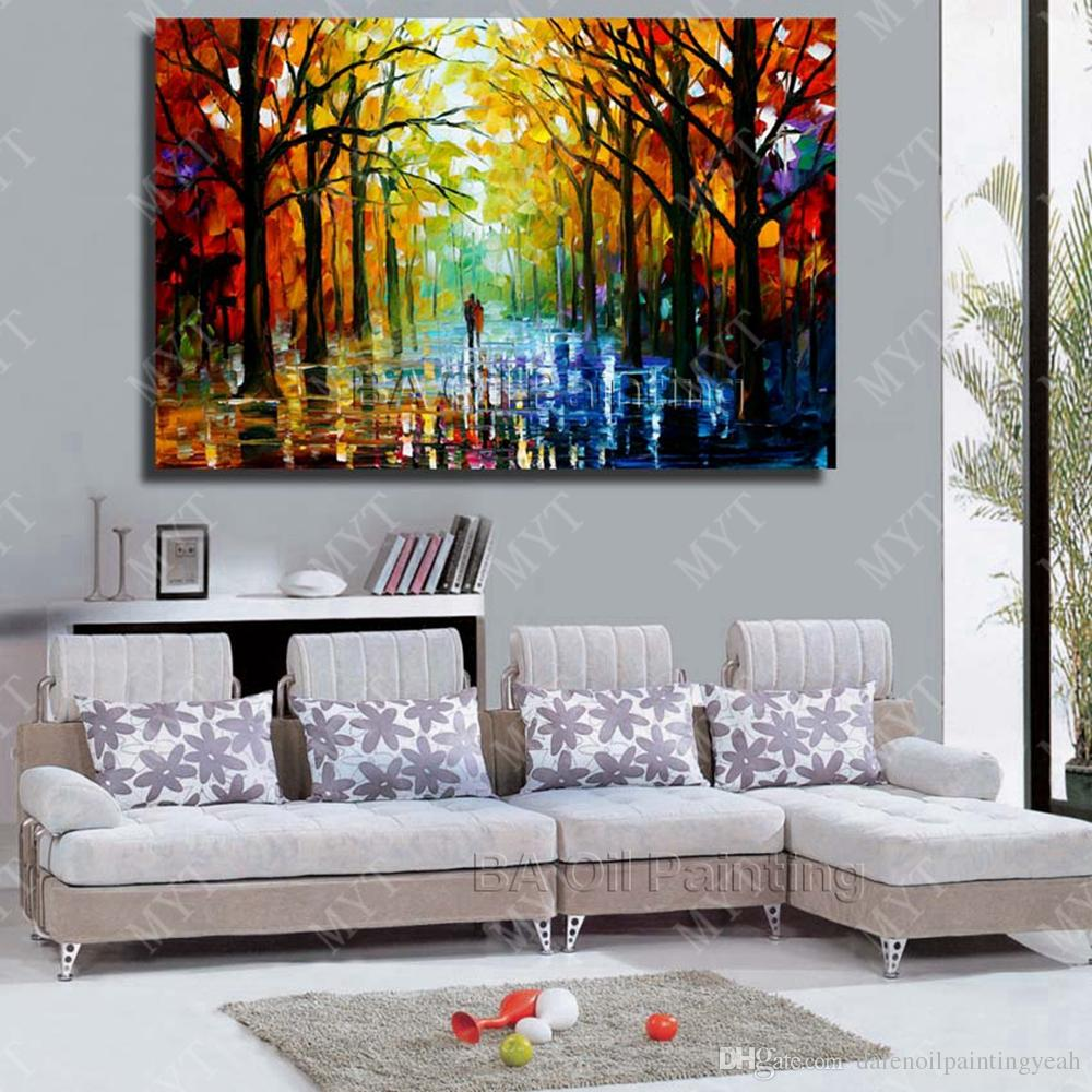 2019 Wall Hanging Scenery Painting Modern Living Room Decoration Hand  Painted Knife Oil Painting Modern Canvas Art No Framed From ...