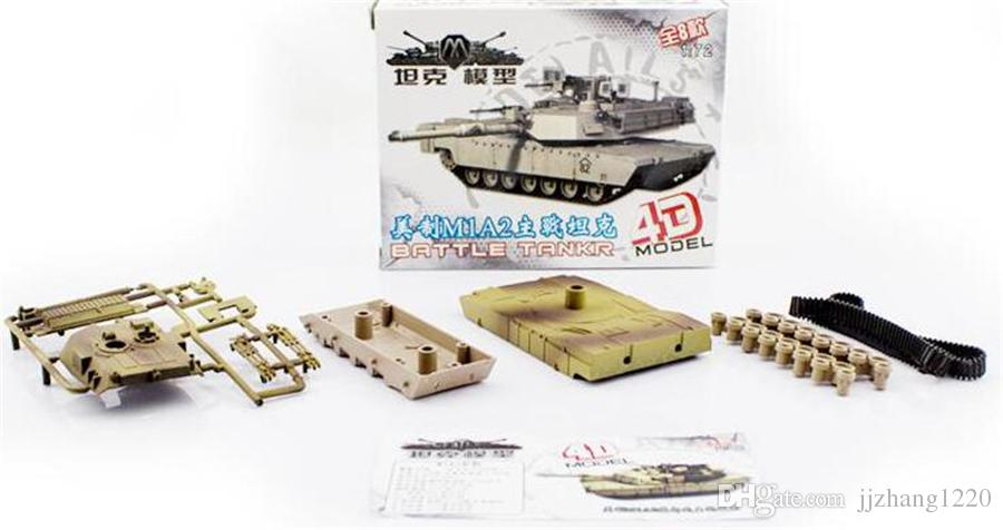 /  1:72 Military Assembled Tank Model 4D Military Tank Model Puzzle Figure for Boy Gift Educational Toys