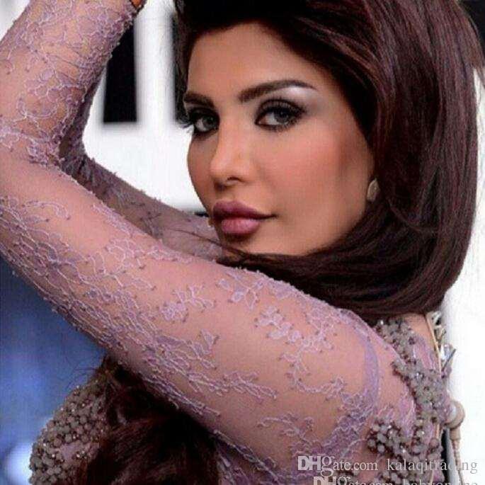 2016 Bainha de Dubai Arábia Muçulmana Vestidos de Noite Myriam Fares Mangas Compridas Celebridade Do Partido Do Vestido Beading Jóia Do Laço Do Pescoço Vestido de Baile