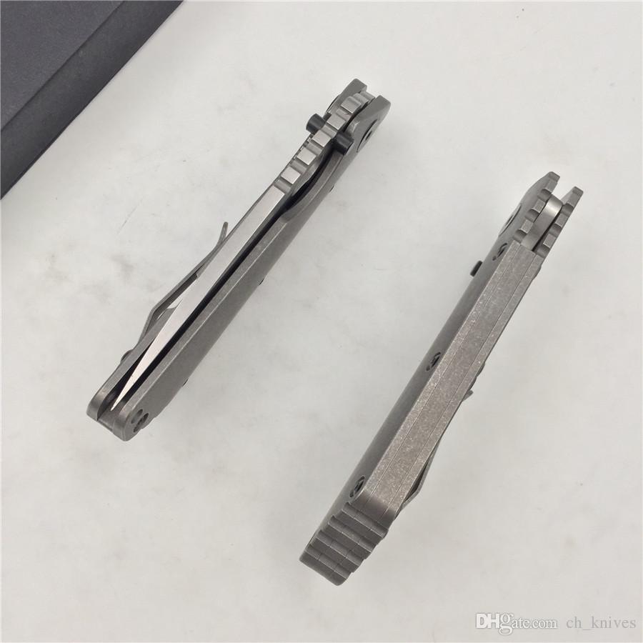 folding knife D2 blade titanium alloy handle copper washing machine kitchen outdoor fruit fruit knife EDC