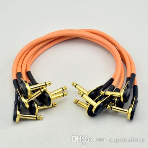 6 х 30СМ прямоугольный 1/4 моно гитара эффект педаль доска кабель патч шнур Оранг